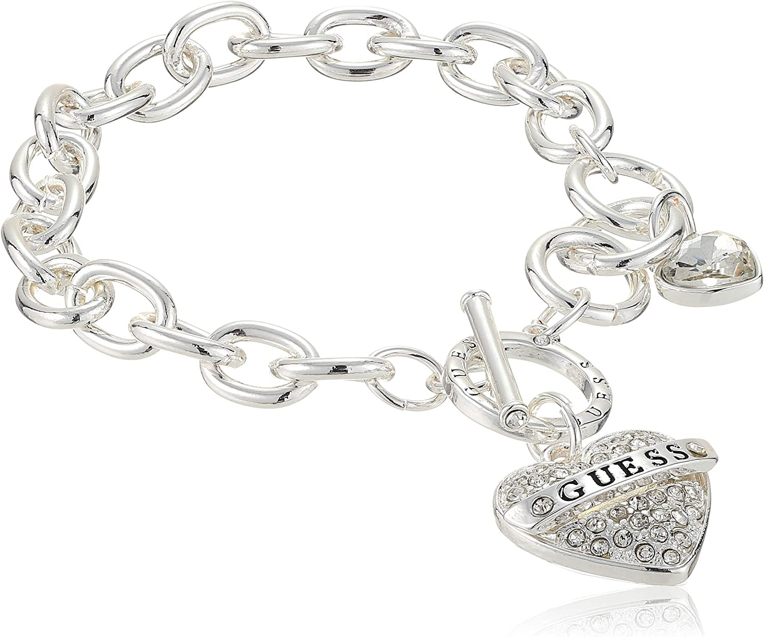 GUESS Pave Heart With Logo...