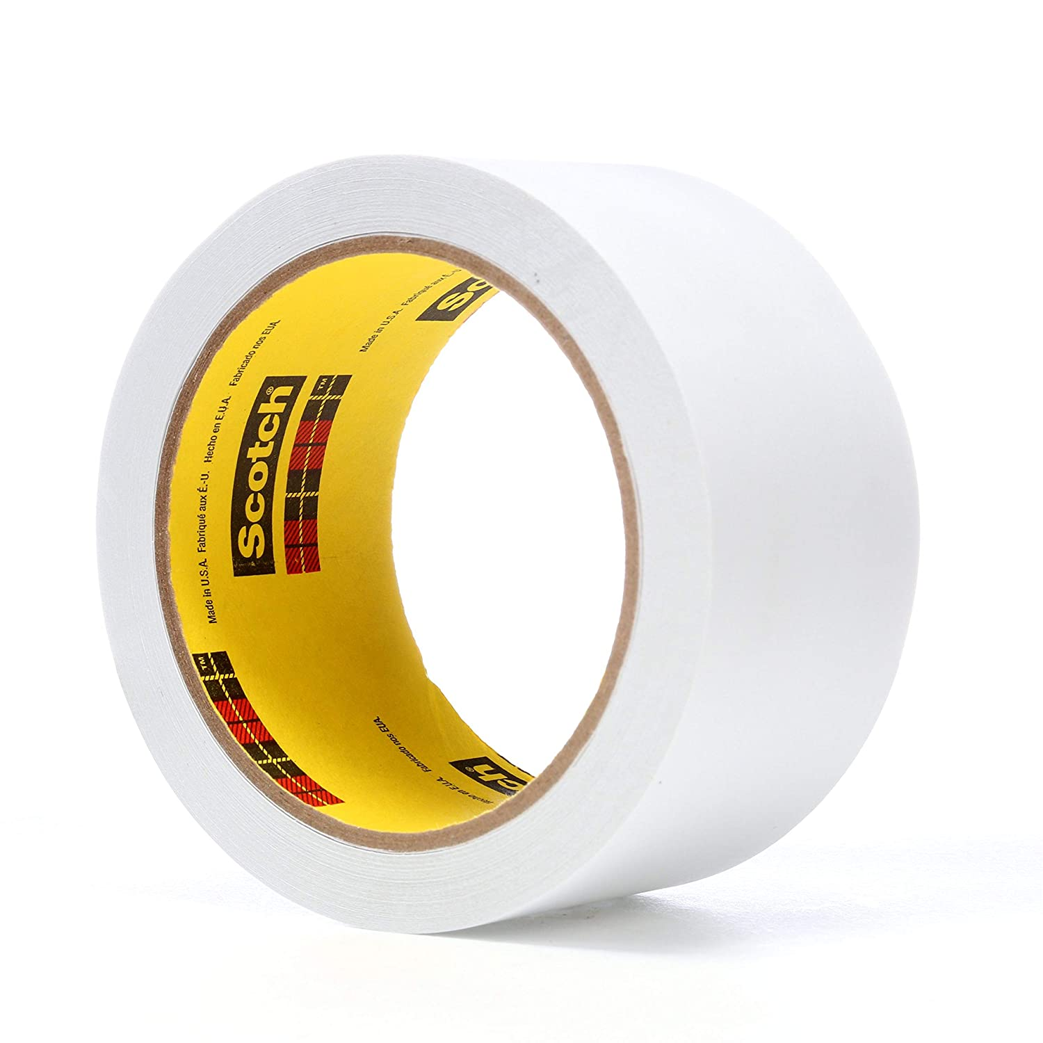 3M Low Tack Paper Tape 3051, White, 2 in x 36 yd, 3.3 mil, 24 Rolls per case