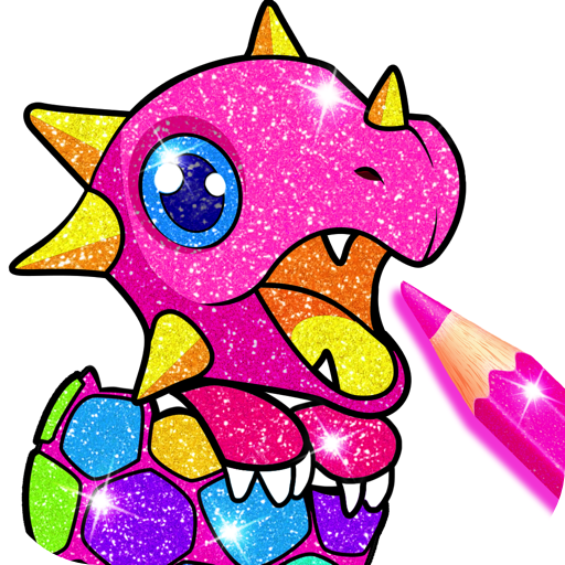 Rainbow Glitter Coloring Book Dragons product image