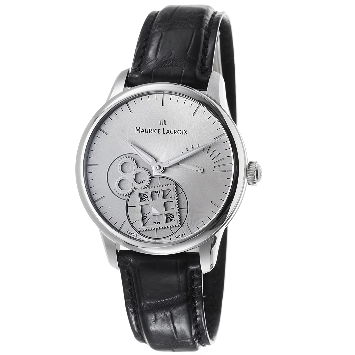 Amazon.com  Maurice Lacroix Masterpiece Roue Carree Seconde Mens Silver  Dial Watch MP7158-SS001-901  Maurice Lacroix  Watches 9c3f79e12d7