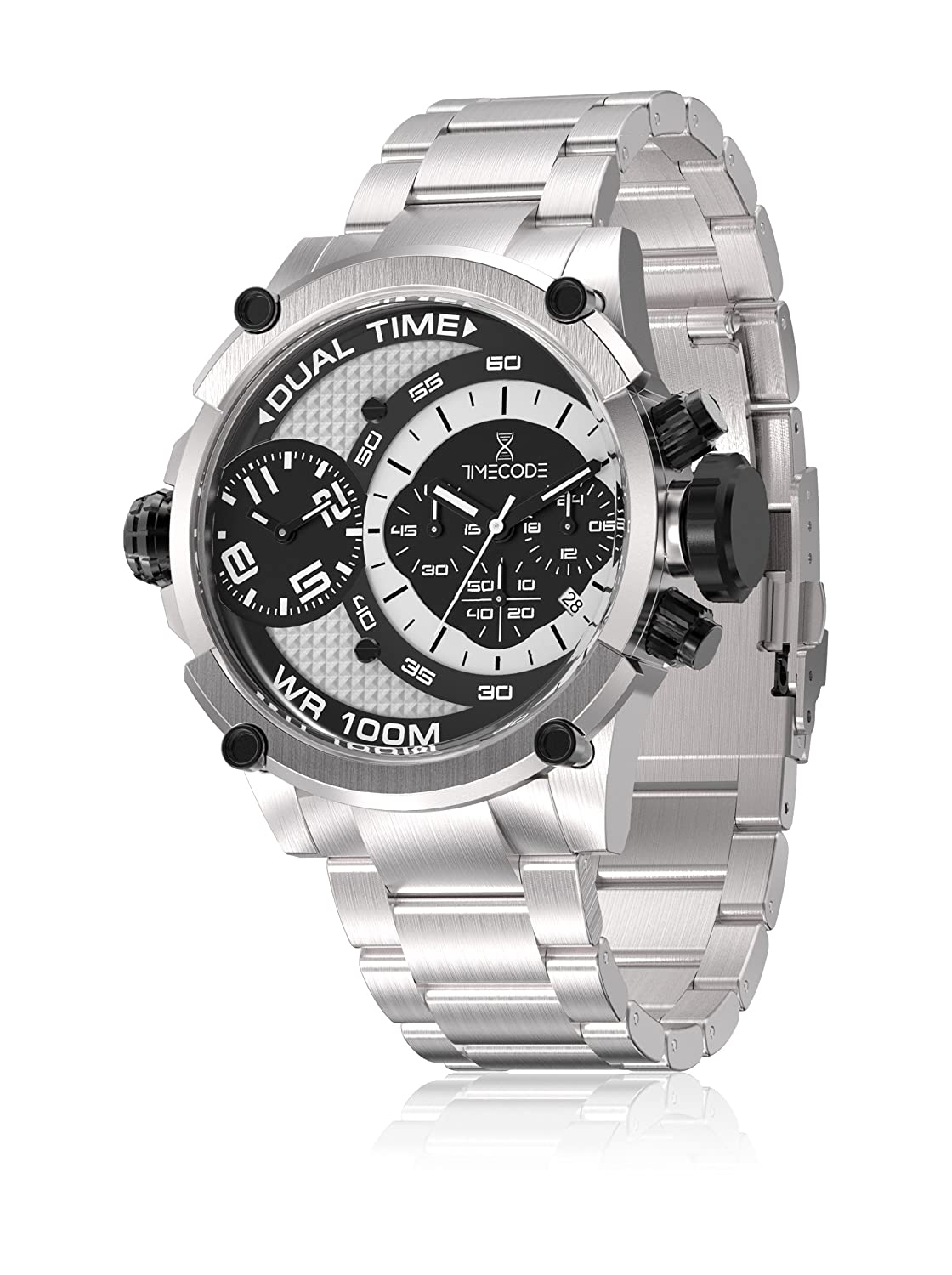 Amazon.com  Timecode Albert 1905 Watch TC-1003-10 - Stainless Steel Gents  Quartz Dual Time   Chronograph  Watches e598c834b2c