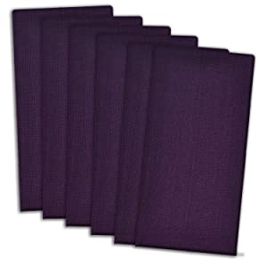 DII Variegated 100% Cotton Napkin Set, Set of 6, Eggplant