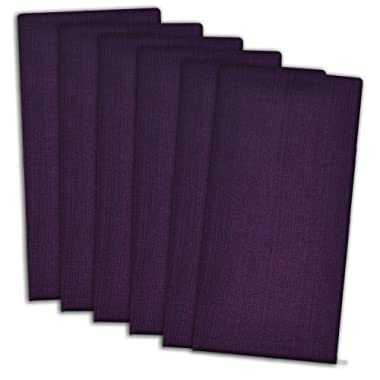 DII Oversized 20x20  Cotton Napkin, Pack of 6, Variegated Eggplant Purple - Perfect for Fall, Halloween, Dinner Parties, BBQs and Everyday Use