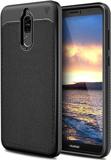 Funda Huawei Mate 10 Lite, funda KuGi Huawei Mate 10 Lite, ultraprotectora, absorción elástica, cómoda, para Huawei Mate 10 Lite. (Negro)