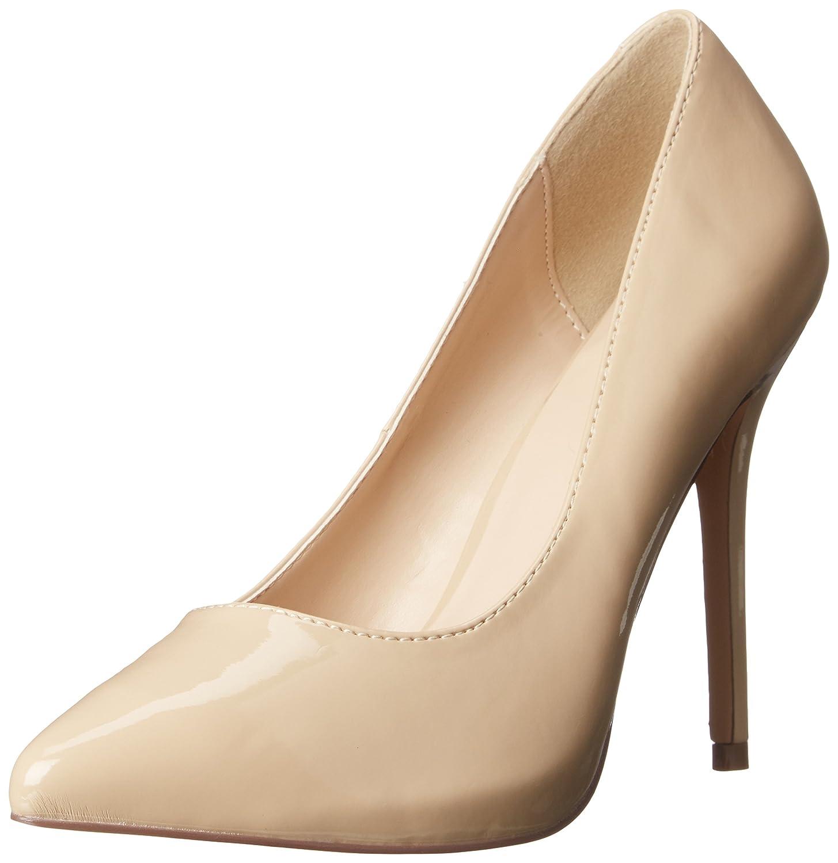 Pleaser Amuse-20, Zapatos de Tacón con Punta Cerrada para Mujer 43 EU Beige (Cremefarben (Cream Pat))