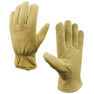 1bcb0dbc0030d SKYDEER Winter Gloves with Warm Full Deerskin Leather Suede (Unisex  SD8672T M)
