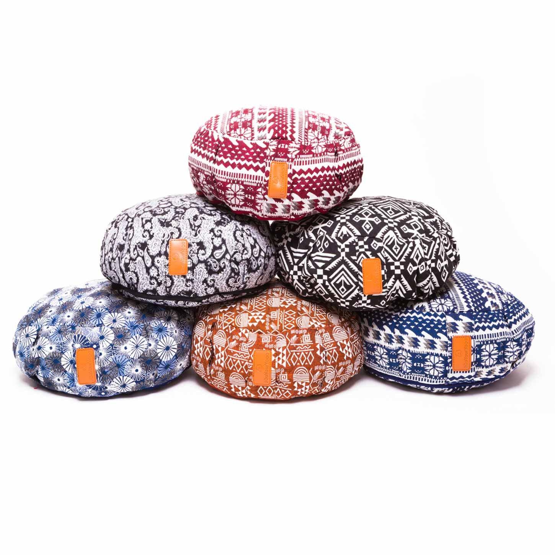 #DoYourYoga Yogakissen »Brahman« mit Reißverschluss & Bio-Dinkelspelz (KBA) Füllung - Maße: ca. 42 x 15 cm - ideal als Zafukissen/Meditationskissen / Rondokissen/Meditiationsunterlage #DoYourSports