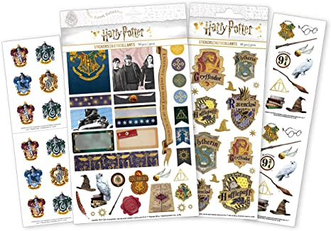 HARRY POTTER STICKER COLLECTION 2020 = 10 PACKET BUNDLE
