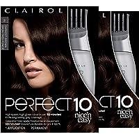 2-Pack Clairol Perfect 10 By Nice 'n Easy Hair Color (Darkest Brown)
