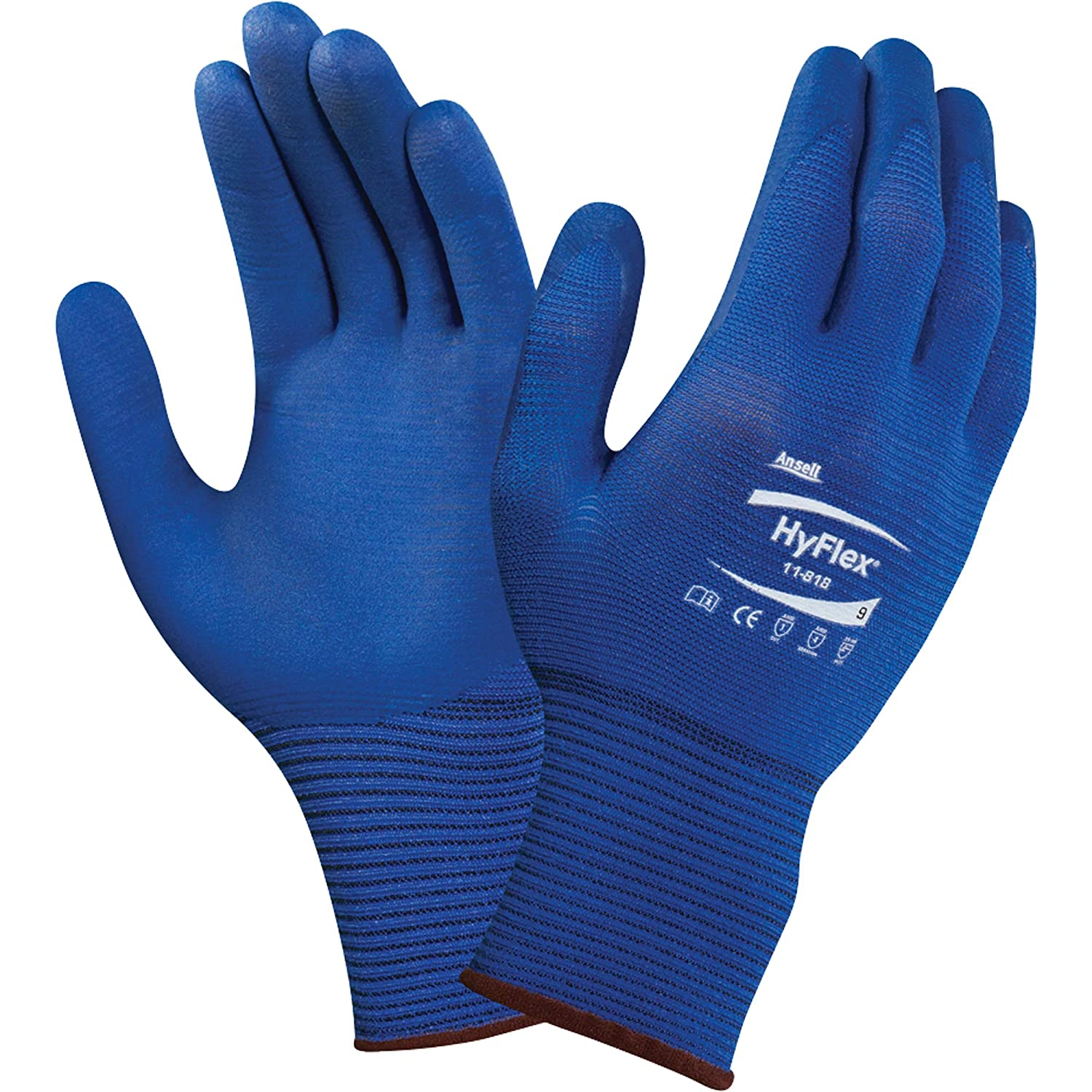 8//M ANSELL HYFLEX 11-800 NITRILE PALM GLOVES