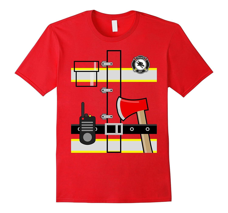 Kids Fireman Shirt Halloween Children's Firefighter tShirt-T-Shirt