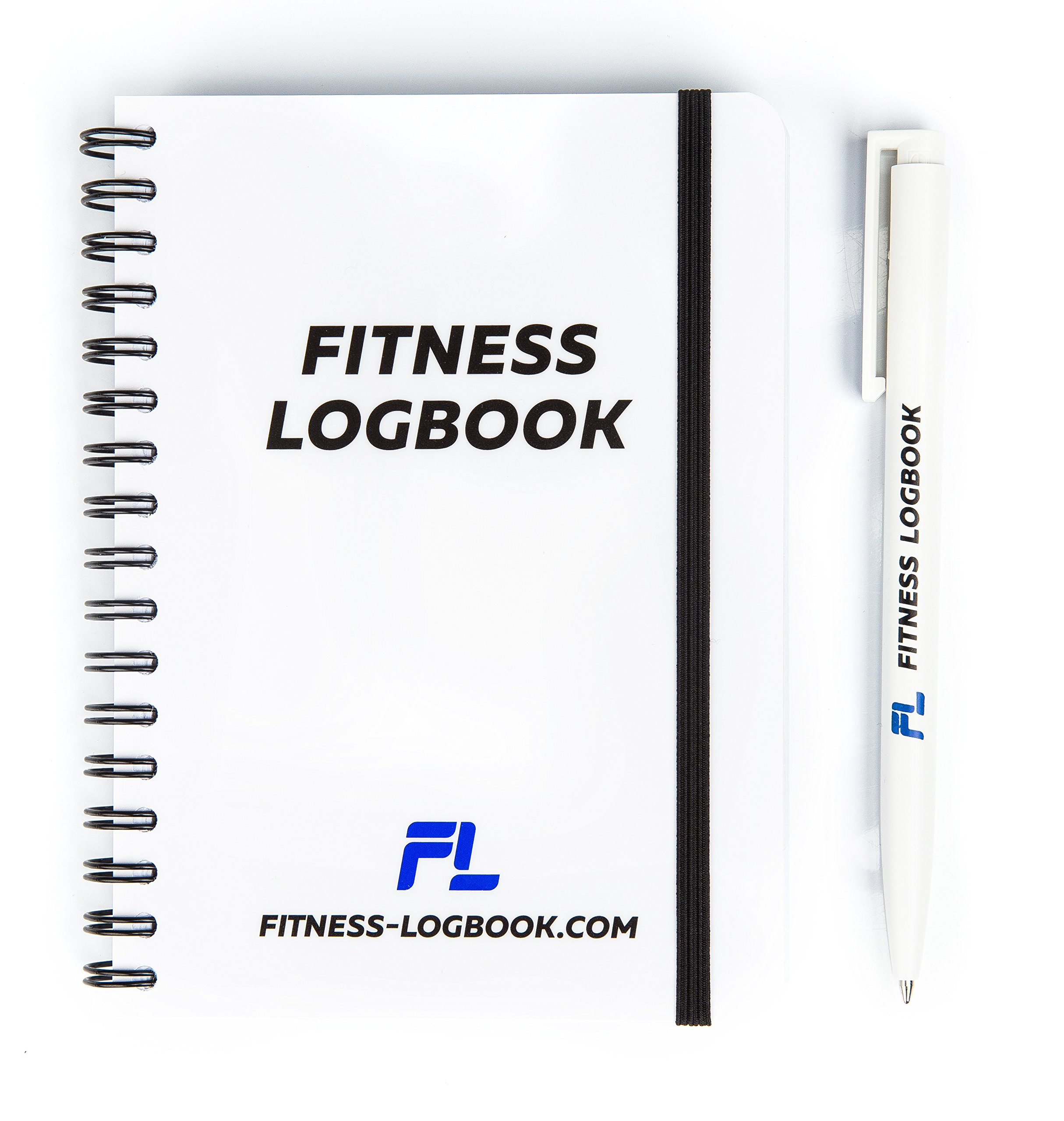 Fitness Logbook: Undated Workout Journal w/ Pen – 4 x 6 inches – 75 Workouts – Thick Paper, Durable Cover, Round Corners, Wire-bound – Stylish And Easy-To-Use Gym Log Book