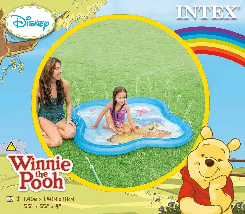 Intex 58433 Piscina Baby Winnie The Pooh, Azul, 140 x 140 x 10 cm ...