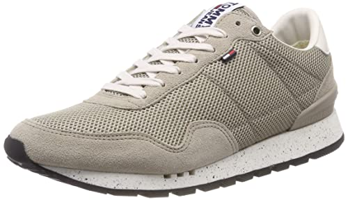 Mens Retro Low-Top Sneakers, Grau (Diamond Grey 001) Tommy Jeans