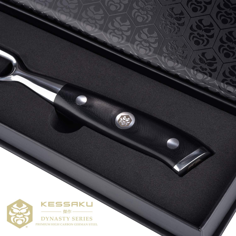 Kessaku Meat Carving Fork - Dynasty Series - German HC Steel, G10 Full Tang Handle, 7-Inch by Kessaku (Image #6)