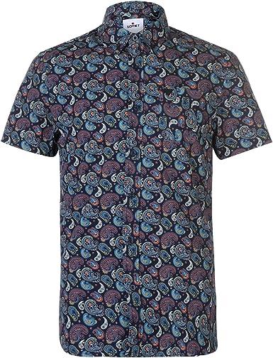 Soviet Hombre Paisley Camisa Manga Corta Multicolor XL: Amazon.es: Ropa y accesorios