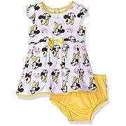 Disney Baby Girls Minnie Dress Set, White, 3-6 Months