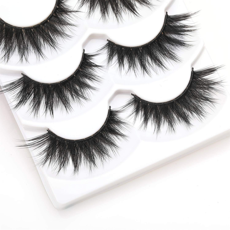 684692679e7 Amazon.com : ALICE False Eyelashes 3D Faux Mink Dramatic Lashes 3 Pairs :  Beauty
