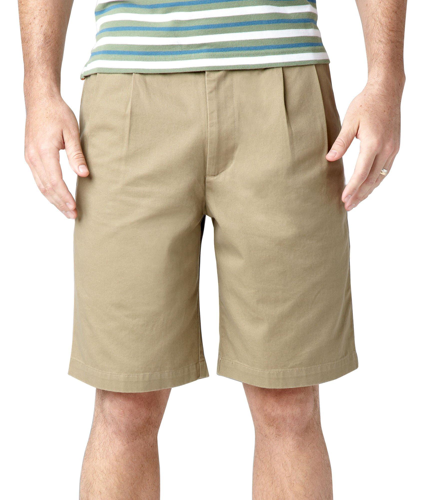 Dockers Men's Perfect Short D3 Classic-Fit Pleated Short - 44W - British Khaki