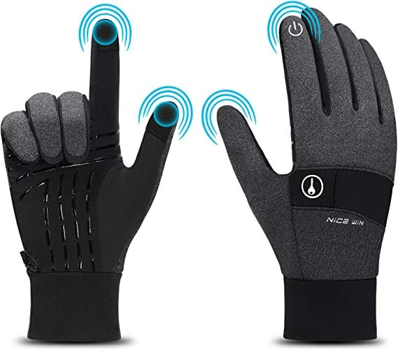 Winter Thermal Warm Full Finger Waterproof Gloves  Anti-Skid Cycling Touch Scree