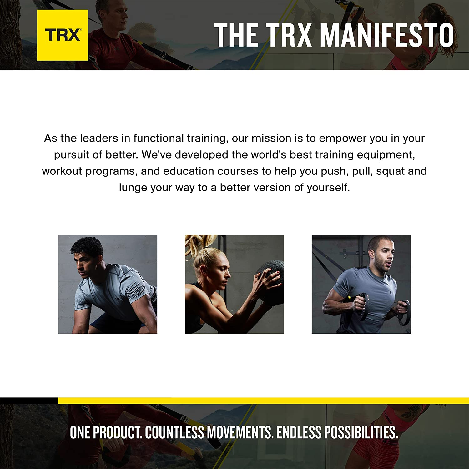 TRX Training Strength Bands, Safely Increases The Intensity of Any Exercise