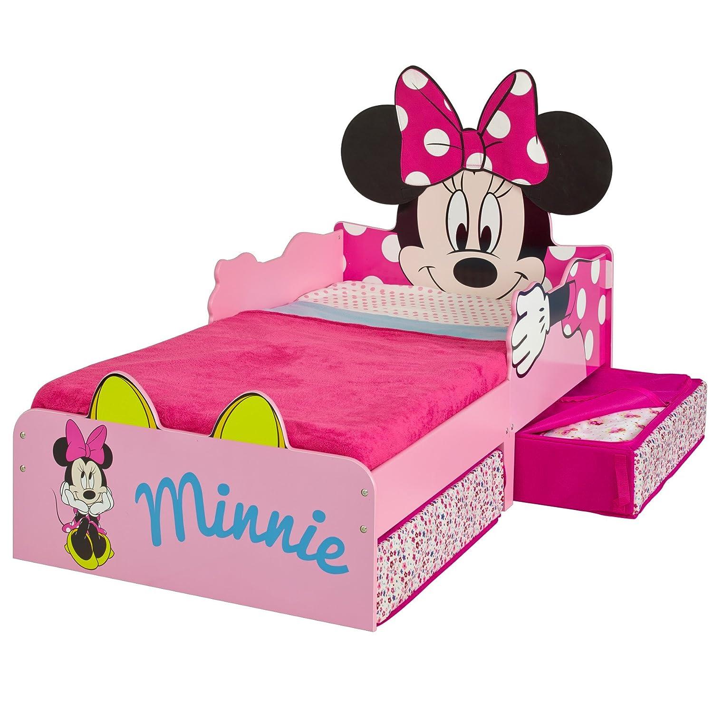 142 x 77 x 63 cm Wei/ß Minnie Mouse Kleinkinderbett Holz