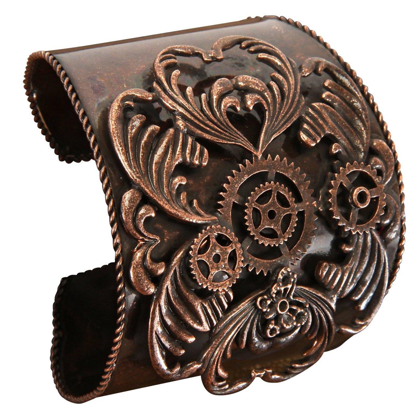 Steampunk Costume Copper Cuff Bracelet Jewelry Accessory 3