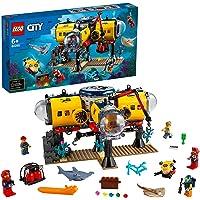 LEGO 60265 City Oceans Hav – forskningsbas, Kreativ Byggset med Leksaksubåt och Minifigurer, Barn 6+