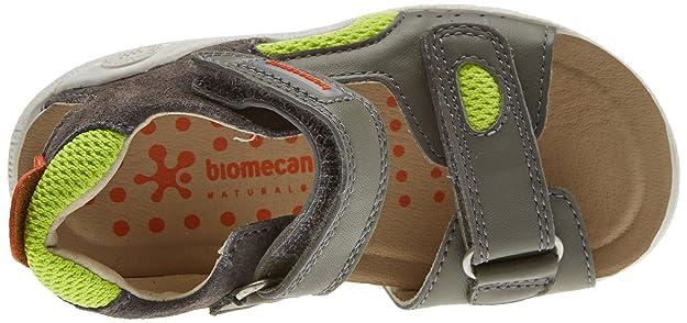 Biomecanics 172178, Sandales Bout Ouvert Garçon, Gris (Marengo/Pistacho B-AMZ), 32 EU