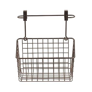 Spectrum Diversified 48524 Grid Over The Cabinet Towel Bar & Medium Basket, Bronze