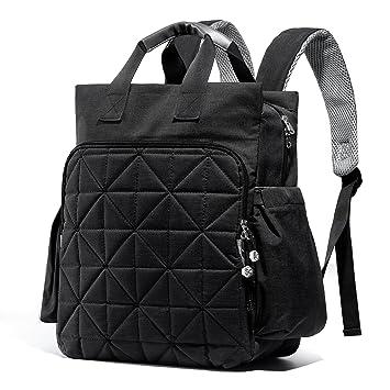 SoHo Kenneth Diaper Backpack 6Pc Set Tote Bag, Black
