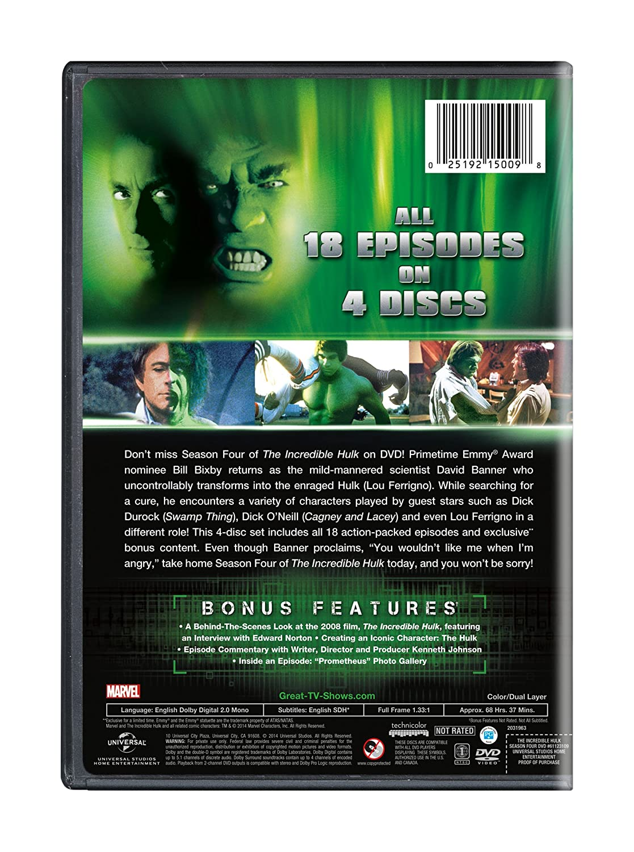 Amazon.com: The Incredible Hulk: Season 4: Bill Bixby, Lou ...