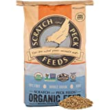 Scratch and Peck Feeds Cluckin' Good 3-Grain Scratch Organic Chicken Feed Treat - 25-lbs - Non-GMO Project Verified, Soy Free