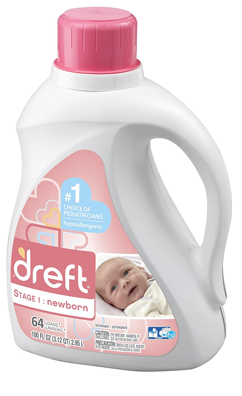 Amazon: Dreft Stage 1: Newborn Hypoallergenic Liquid Baby Laundry  Detergent (he), 100 Ounces (64 Loads): Prime Pantry
