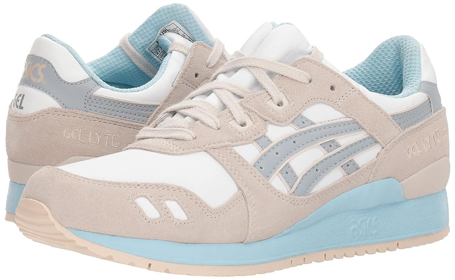 ASICS Men's GEL-Lyte III Sneaker B01B5EEUUK 8.5 B(M) US|White/Light Grey