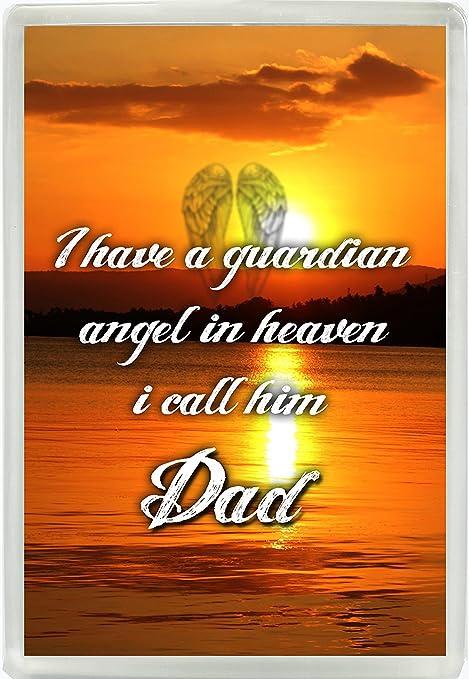 Tengo un ángel en el cielo Le Pido (Jumbo imán para nevera regalo ...