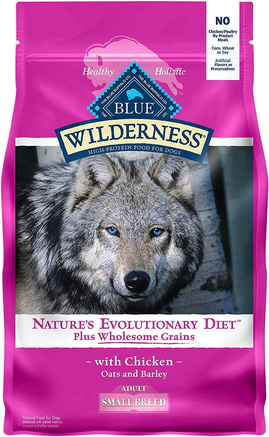 Blue Buffalo Wilderness High Protein Natural Adult Small Breed Dry Dog Food plus Wholesome Grains Chicken 4.5-lb