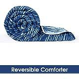 Divine Casa Microfiber All Weather Lightweight Single Comforter/Blanket/Quilt/Duvet, Abstract- Blue and Sky Blue (110 GSM)