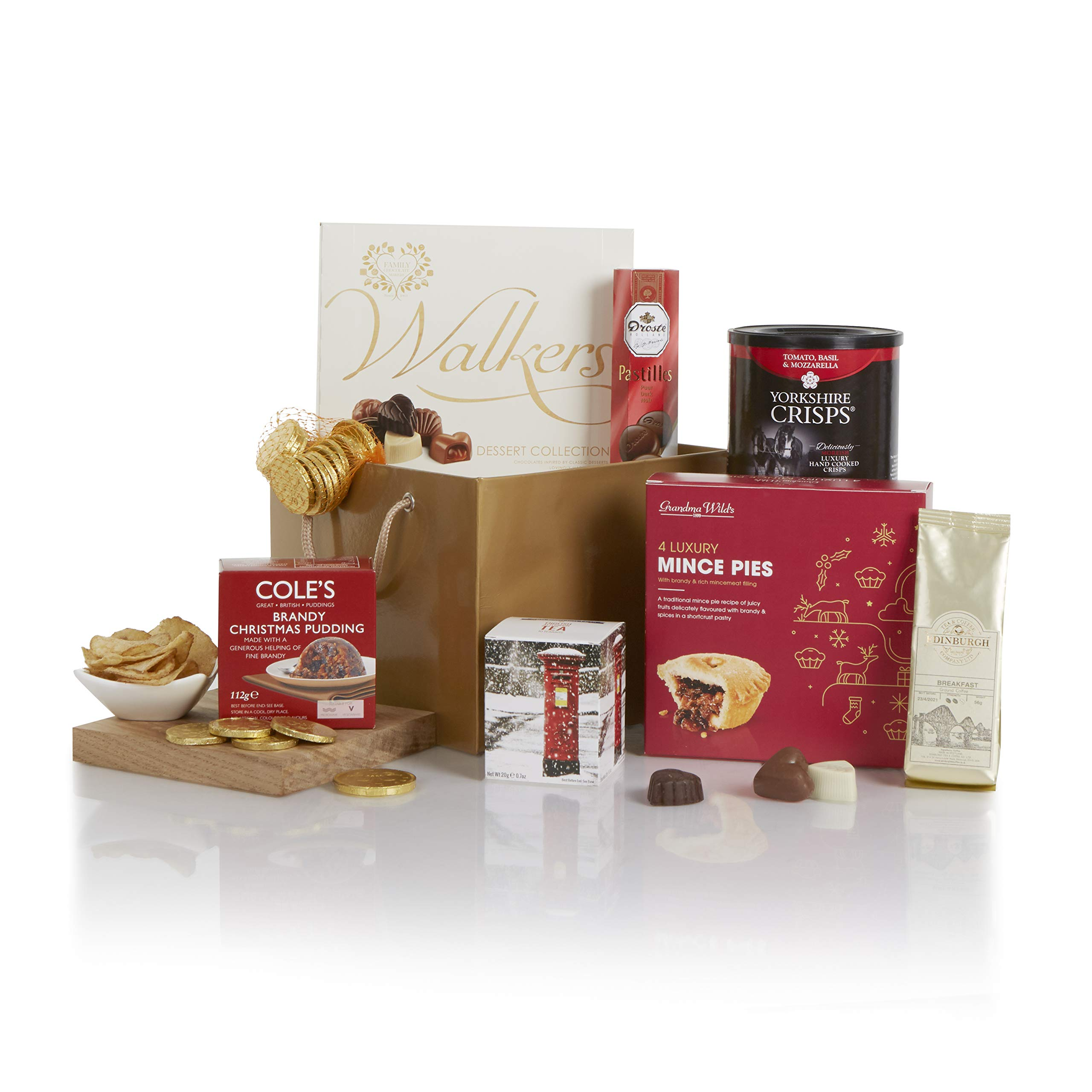 A Little Taste Of Christmas Hamper Xmas Hampers And Festive Gift Baskets For Her Christmas Food Goodies In A Great Gold Gift Bag Buy Online In Aruba At Aruba Desertcart Com Productid