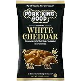 Pork King Good Pork Rinds (Chicharrones) (White Cheddar, 4 Pack)