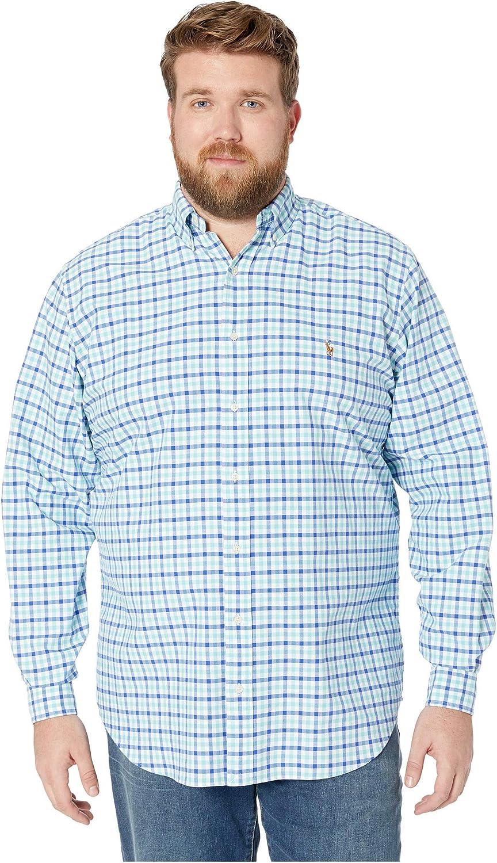 Polo Ralph Lauren Big & Tall Big & Tall Oxford Camisa de manga ...
