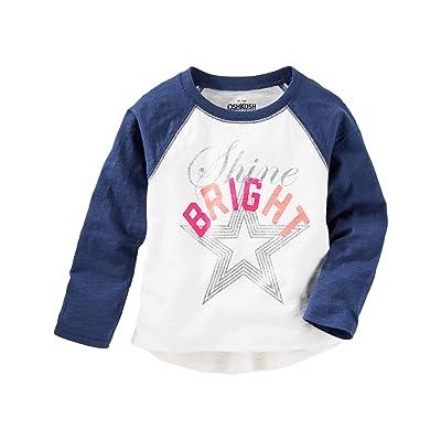 043bca1a OshKosh B'gosh Baby Girls' Shine Bright Raglan Tee [5WefJ1013432 ...
