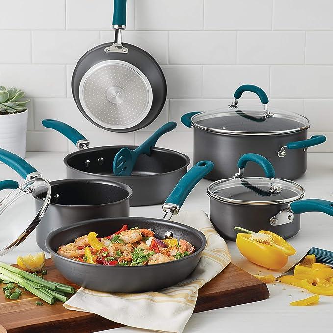 Amazon.com: Rachael Ray Juego de utensilios de cocina de ...