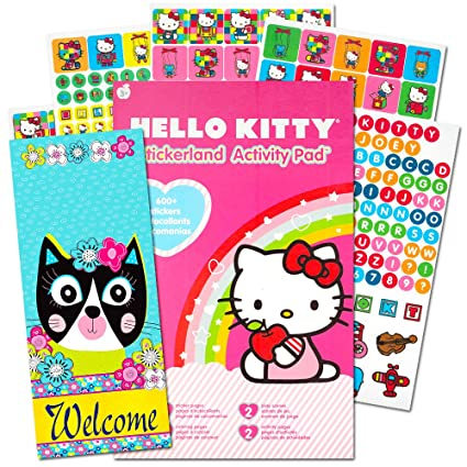 Amazon.com: Hello Kitty Stickers Set ~ Over 300 Hello Kitty Stickers,  Activity Pages And Door Hanger (Hello Kitty Party Supplies): Toys U0026 Games