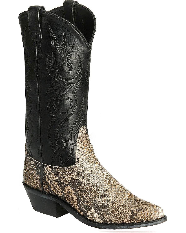 Old West Men's Snake Printed Cowboy Boot Natural 11 D(M) US