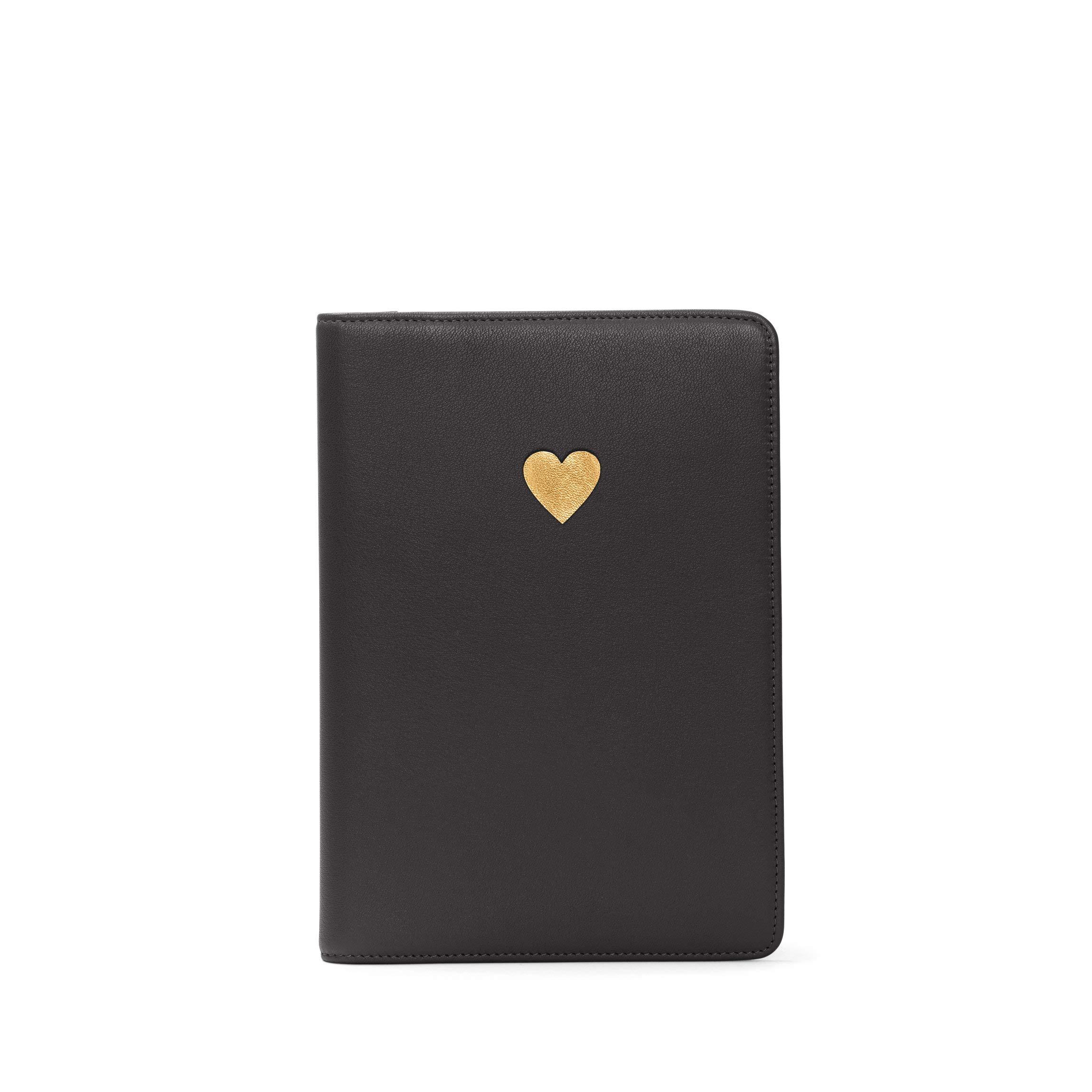 Heart Journal - Full Grain Leather - Black Onyx (black)