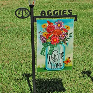 DOLOPL Summer Welcome Home Garden Flag 12.5x18 Inch Double Sided Verticle Decorative Watercolor Bottle of Daisies Flowers Butterfly Seasonal Yard House Flag for Spring Summer Outdoor Indoor Decoration