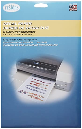 Amazon.com: Testors 9201 papel de calcomanía ...