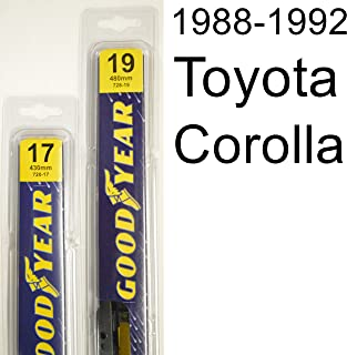 "product image for Toyota Corolla (1988-1992) Wiper Blade Kit - Set Includes 19"" (Driver Side), 17"" (Passenger Side) (2 Blades Total)"