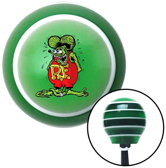Pink Felix The Cat Middle Finger American Shifter 267236 Green Flame Metal Flake Shift Knob with M16 x 1.5 Insert